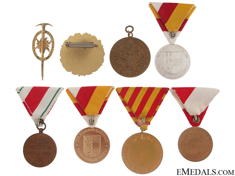 Group of Eight Austrian Medals and Badges