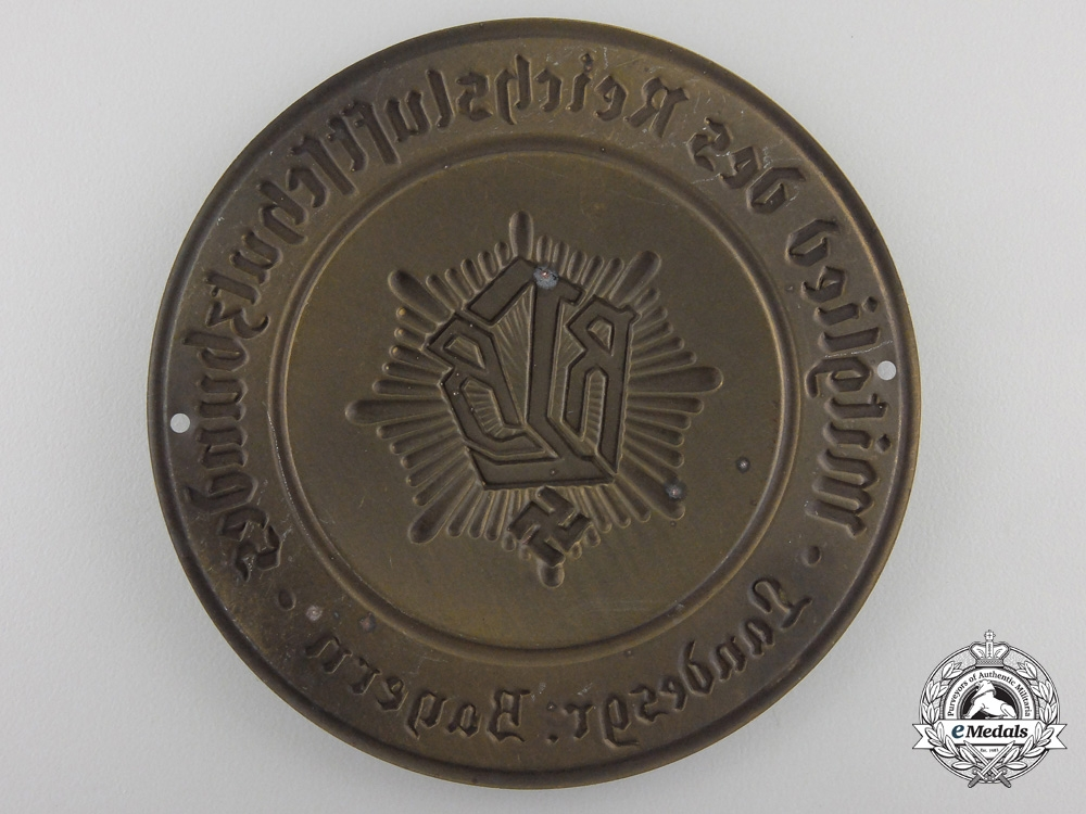 A German Air Protection Federation (RLB) Membership Plaque