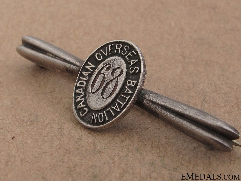 WWI 68th Infantry Battalion Tie Clip