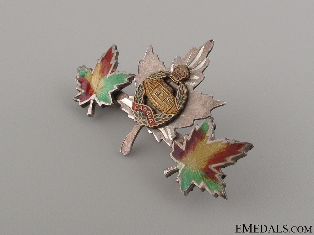 WWII Canadian Tank Corps Pin