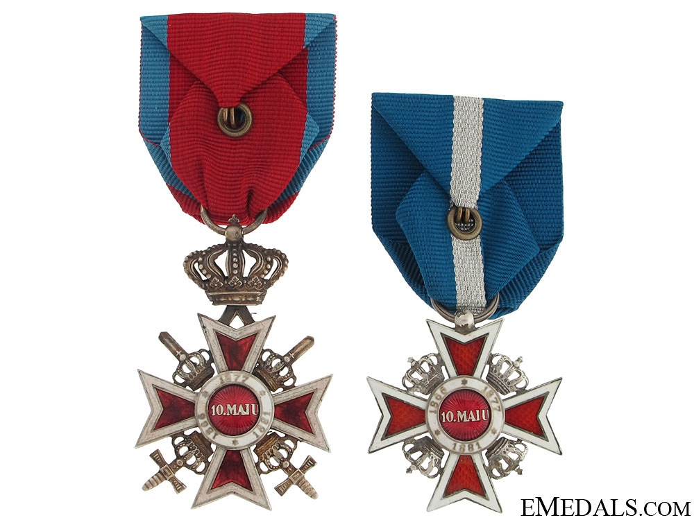 Two Romanian Order of the Crowns