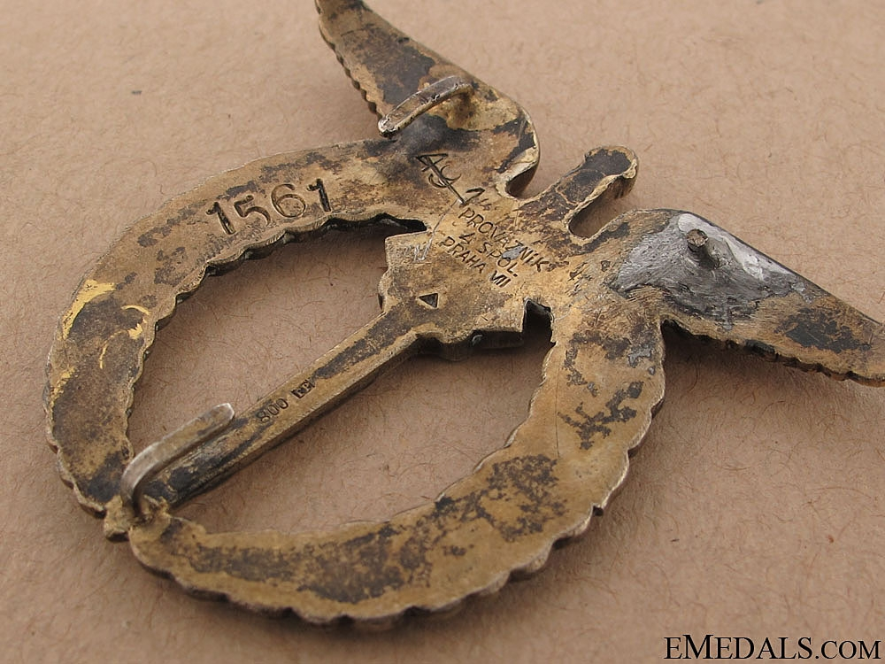 WWII Pilot Badge - Numbered