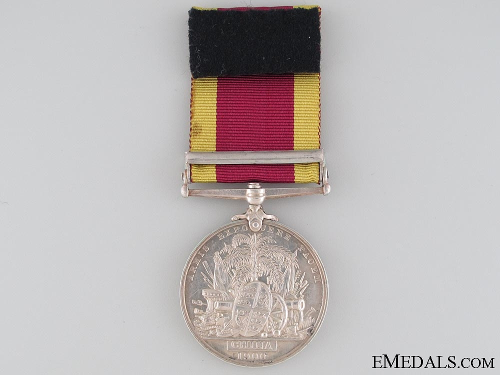 A China Medal 1900 to Pte.Tidmas who was Wounded at Lang Fang