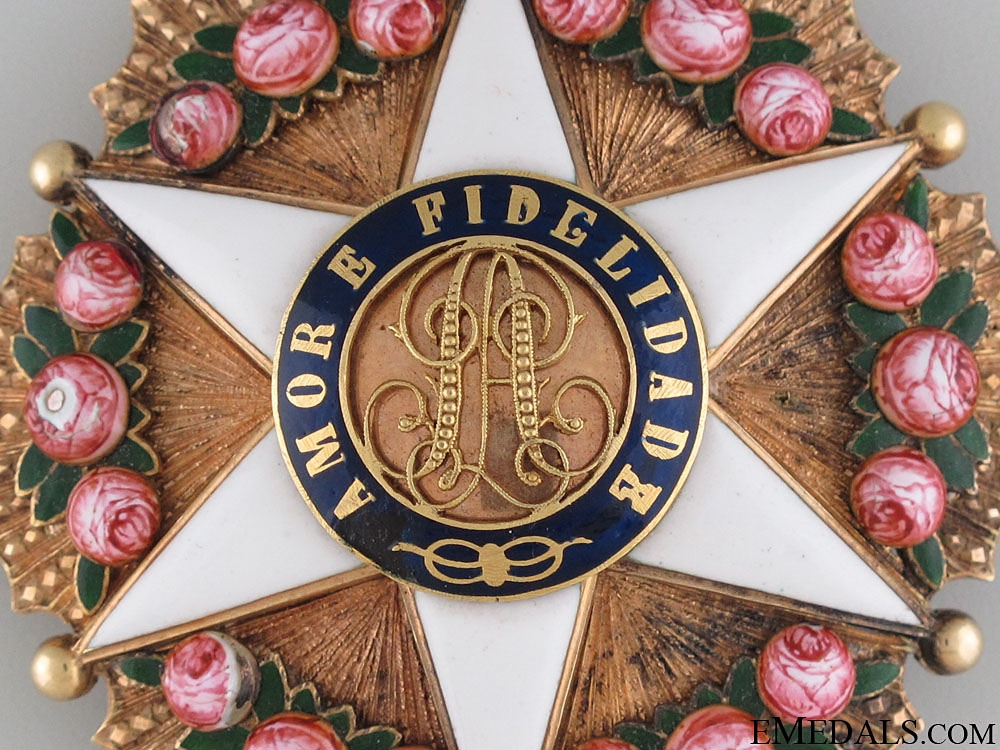 A Brazilian Order of the Rose in Gold; Dignitary Star
