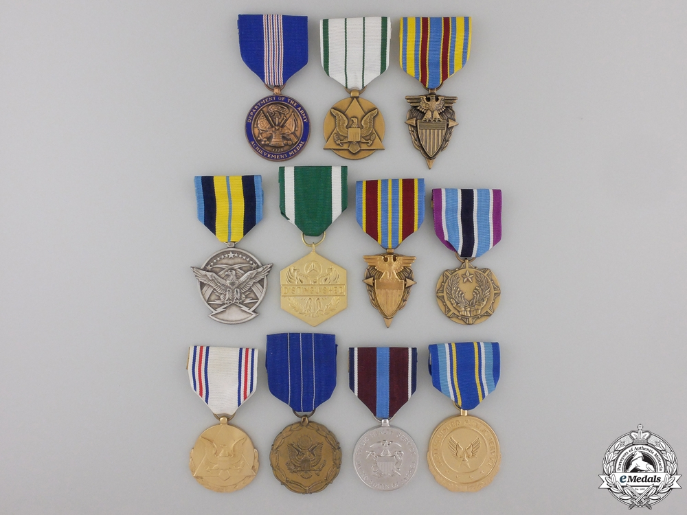 Eleven American Campaign and Service Medals