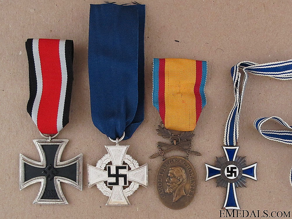 Three German and One Romanian WWII Awards