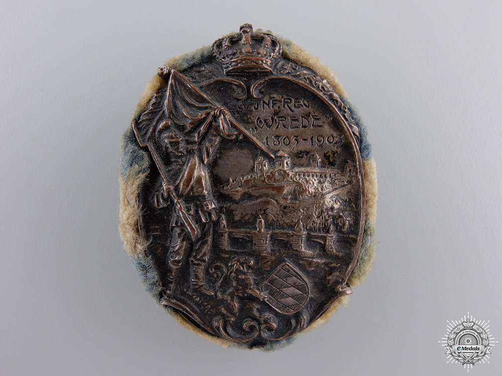 A 1903 9th Royal Bavarian Infantry Regiment Anniversary Badge
