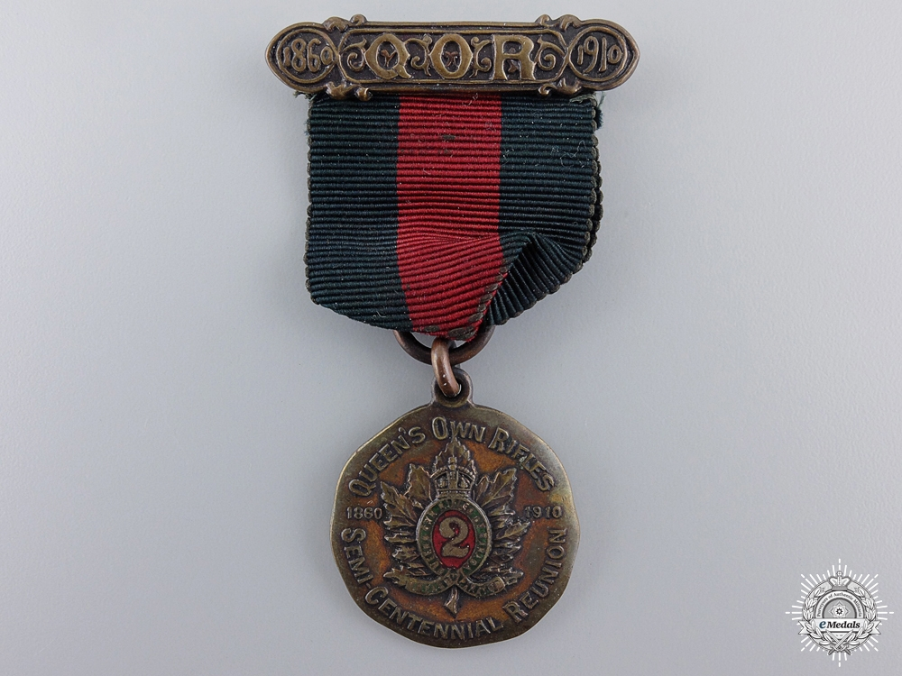 1910 Queen`s Own Rifles 50th Anniversary Medal