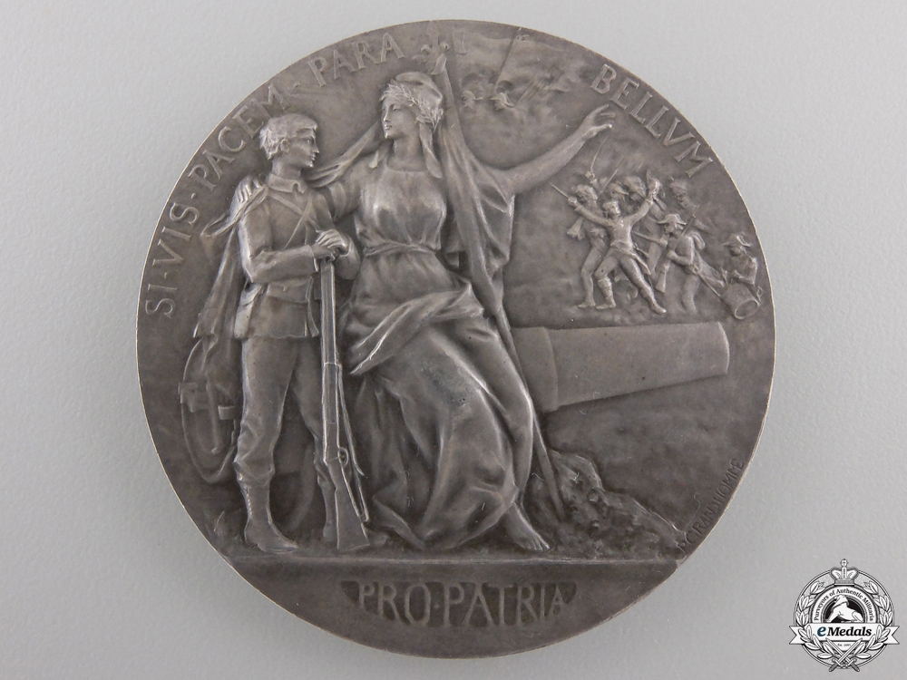 """A 1911 French """"If You Want Peace, Prepare for War"""" Medal"""