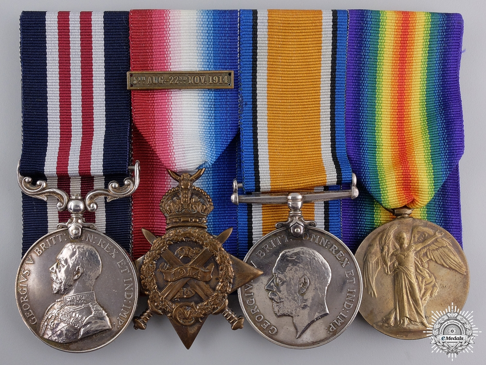 A 1914 Mons Star & Military Medal Group to the RAMC