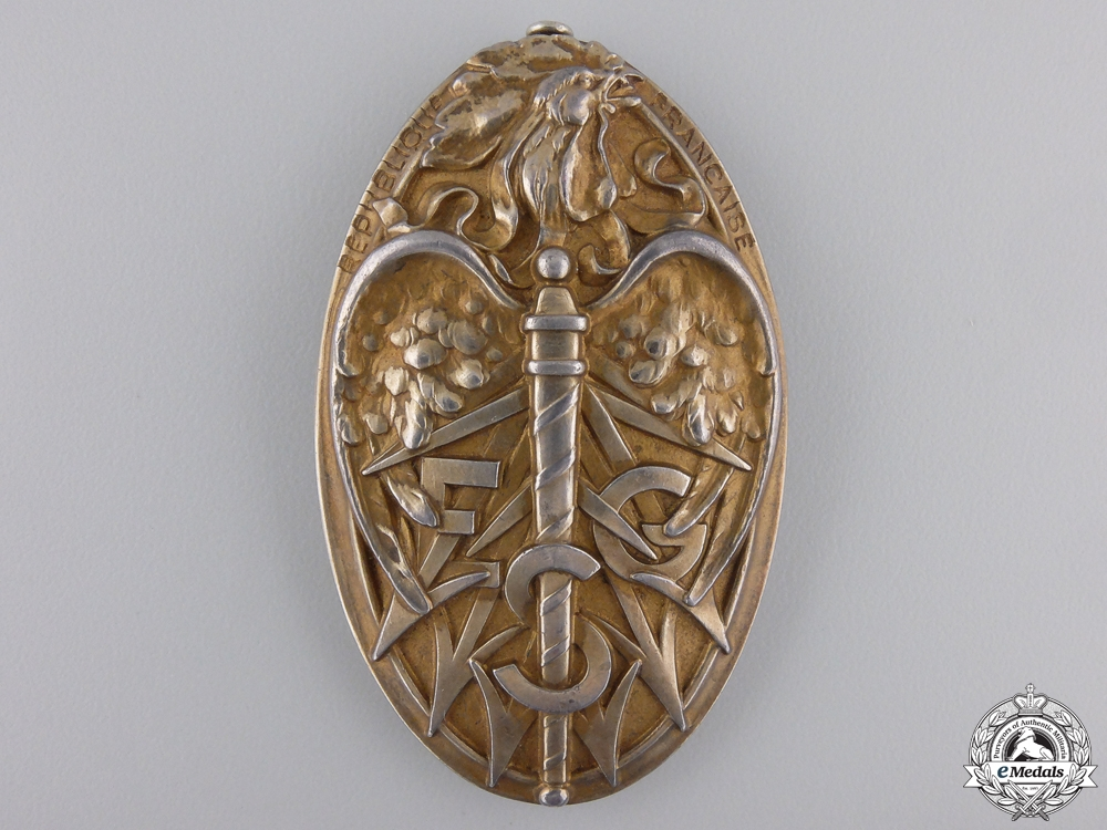 A 1931 French Military Academy Badge to Cpt. Younguitch