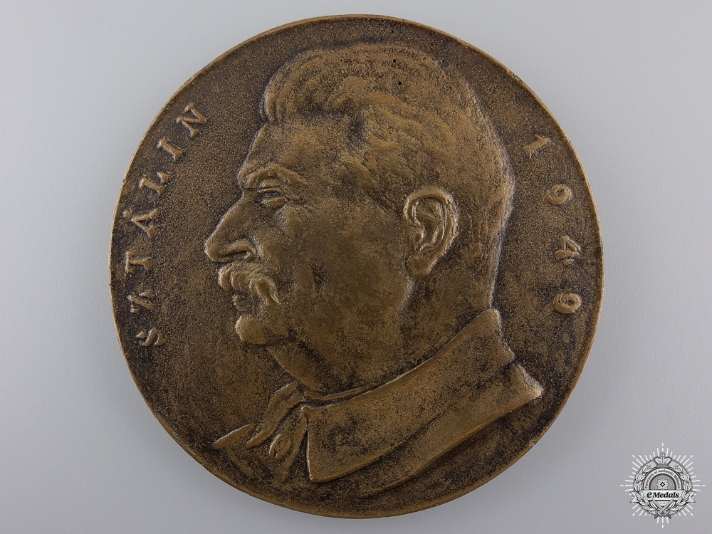 A 1949 Joseph Stalin Commemorative Table Medal