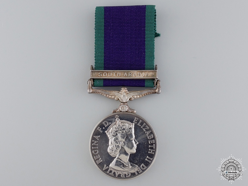 A 1962 General Service Medal to the Royal Air Force