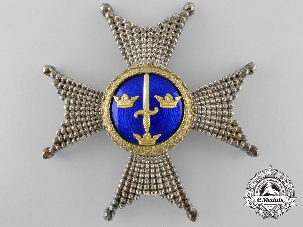 A Swedish Order of the Sword; Breast Star