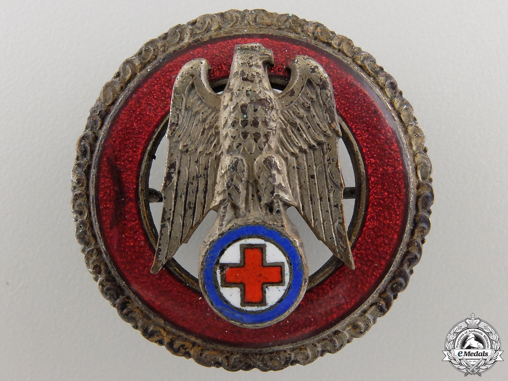A  Slovak Red Cross Five Years' Exemplary Service Badge; Silver Grade