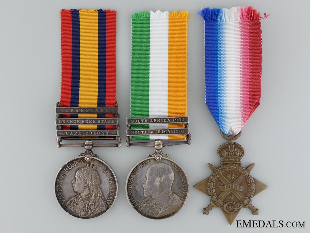 A Boer War & Old Contemptibles Medal Group to the Royal Army Medical Corps