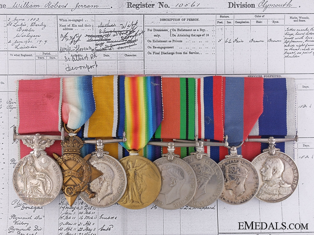 A British Empire Medal Group to the Royal Marine Light Infantry
