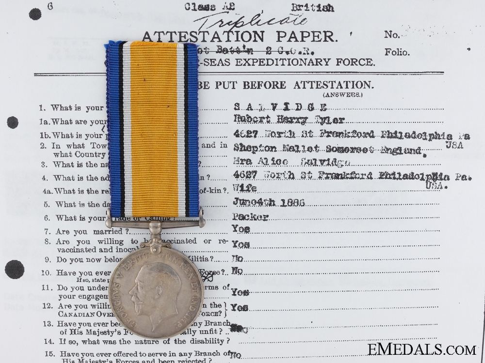 A British War Medal to the Canadian Machine Gun Brigade CEF