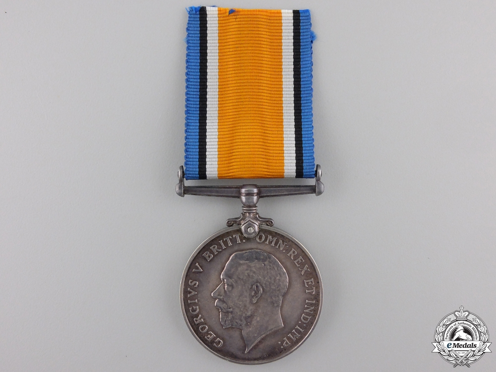A British War Medal to Lieut. Browne who was Wounded at St. Emile