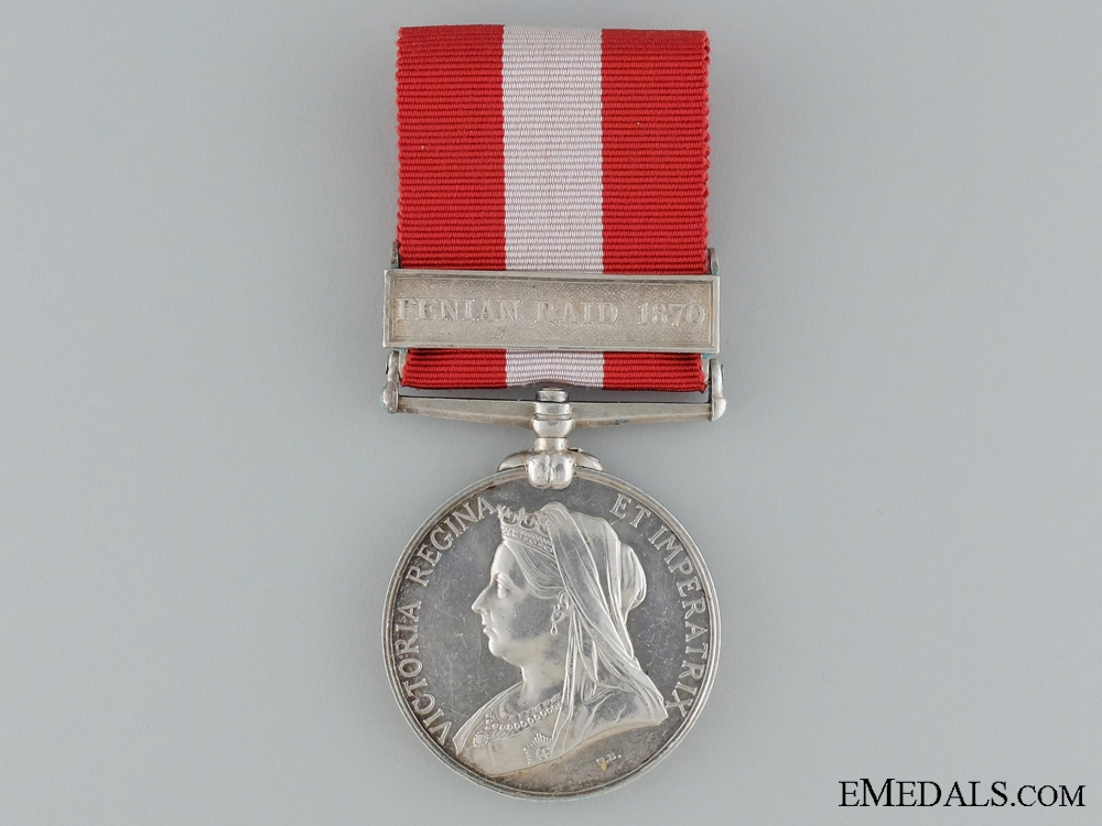 A Canada General Service Medal to the 43rd Battalion