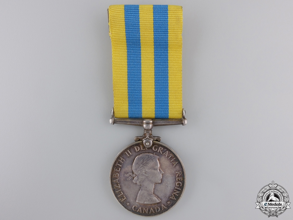 A Canadian Korea Medal to G.C. Robinson