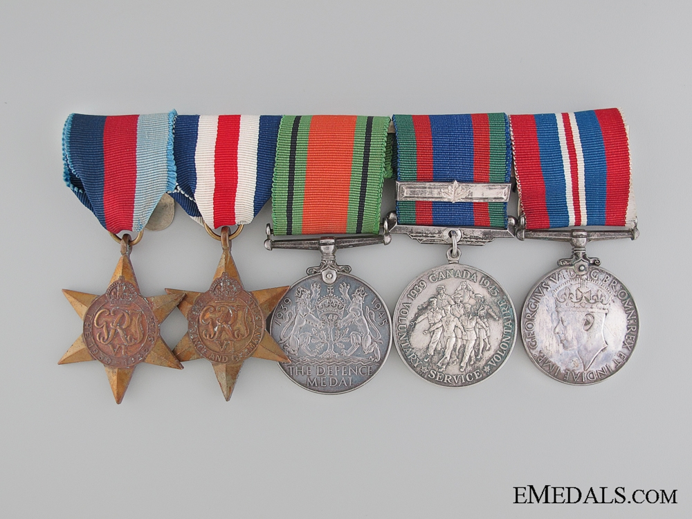 A Canadian WWII Northern Europe Group of Five