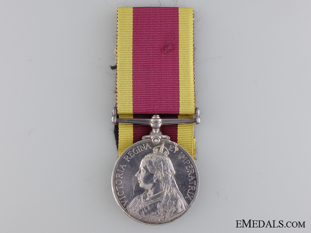 A China War Medal 1900 to Leading Stoker 1st Class; H.M.S. Pique