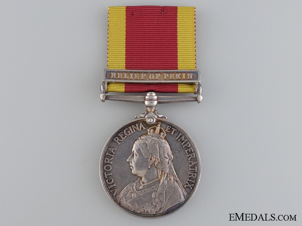 A China War Medal 1900 to the Queen's Own Madras Sappers and Miners