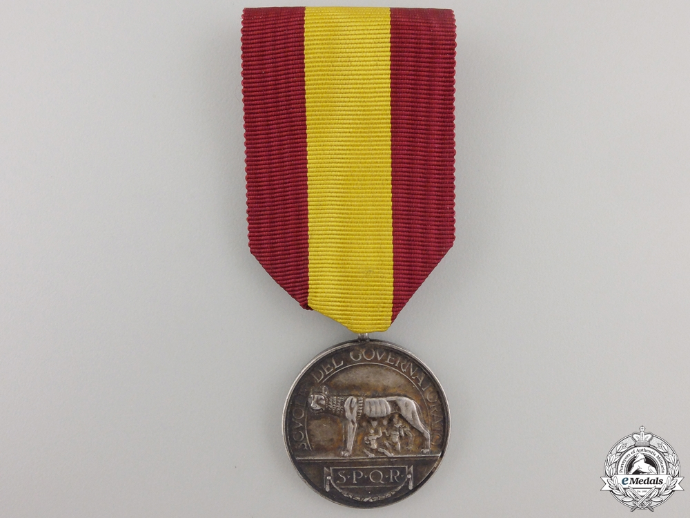 A City of Rome Medal of Merit; Silver Grade