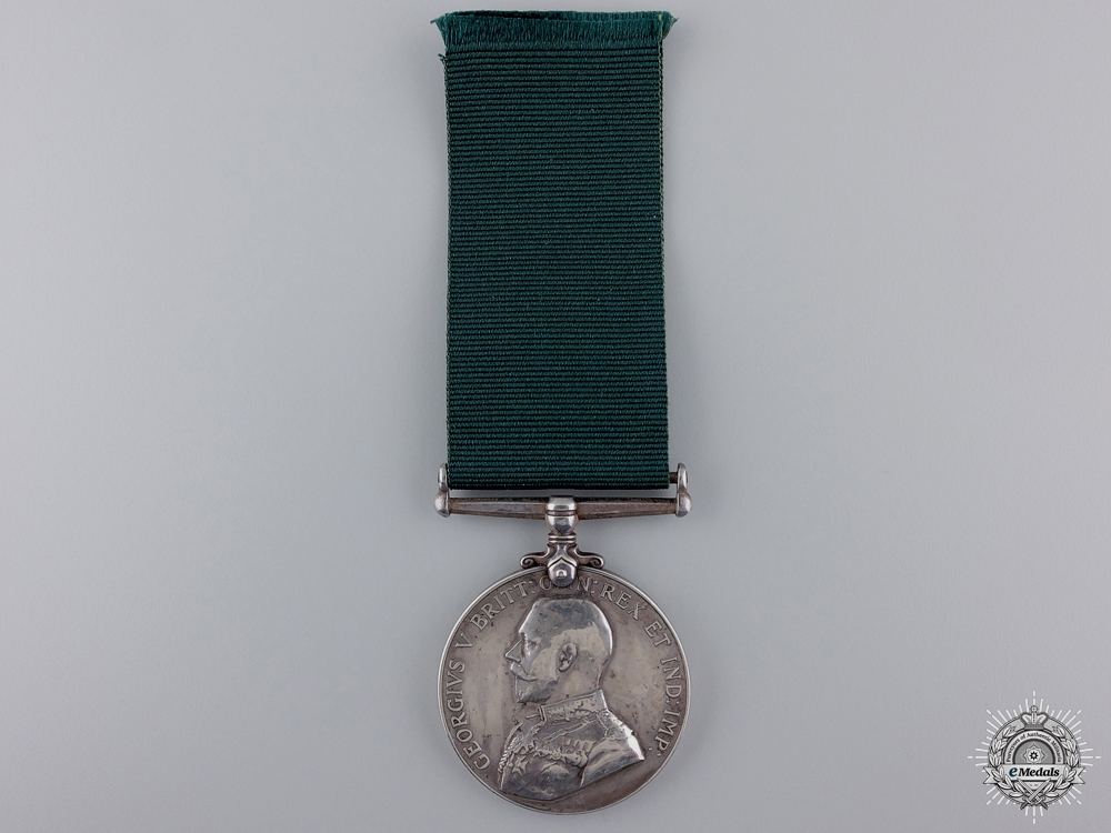 A Colonial Auxiliary Forces Long Service Medal to Major Stalker; Passchendaele