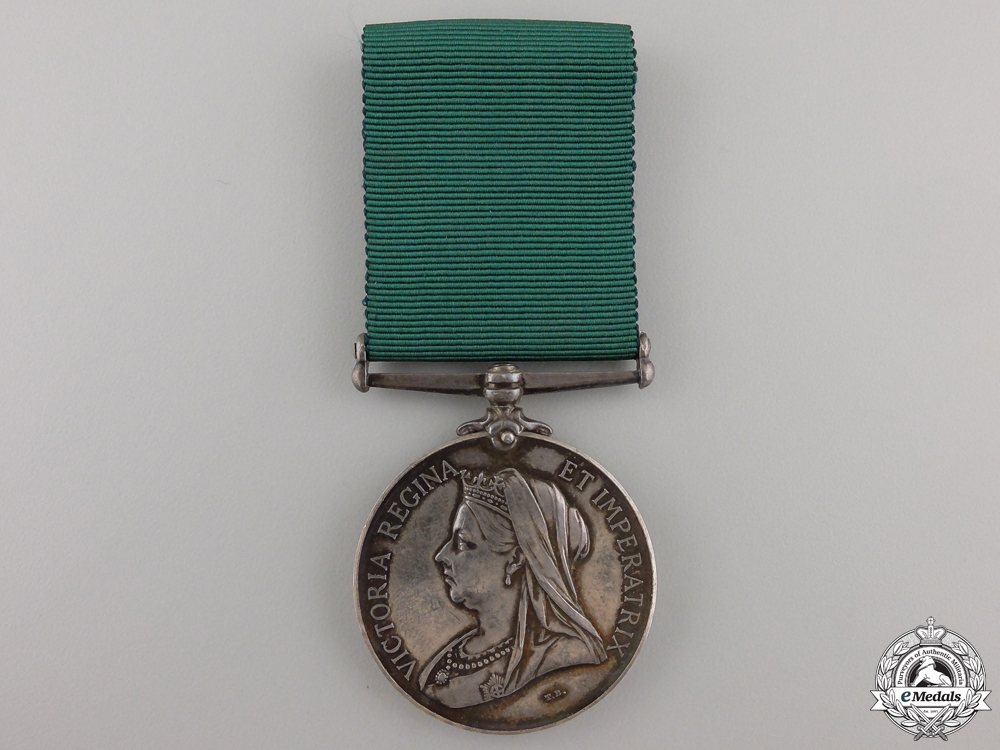 A Colonial Auxiliary Forces Long Service Medal to the Sault Ste. Marie Co.