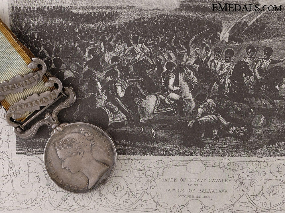 A Crimea Medal to the 2nd Dragoons & the Charge of the Heavy Brigade