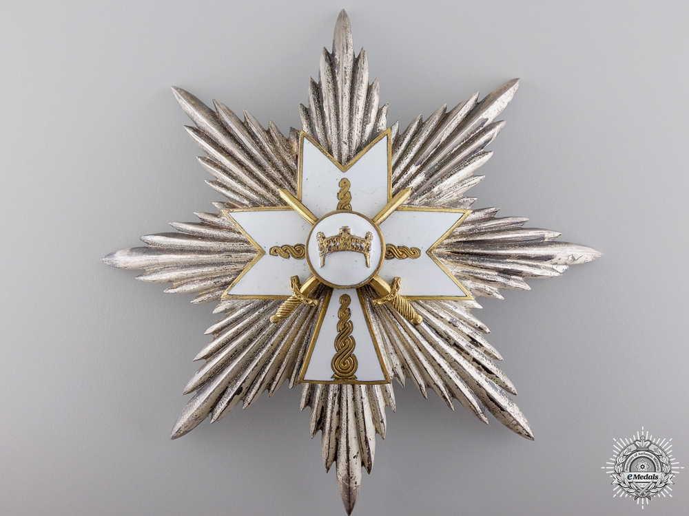 A Croatian Order of King Zvonimir with Swords; Grand Cross Star