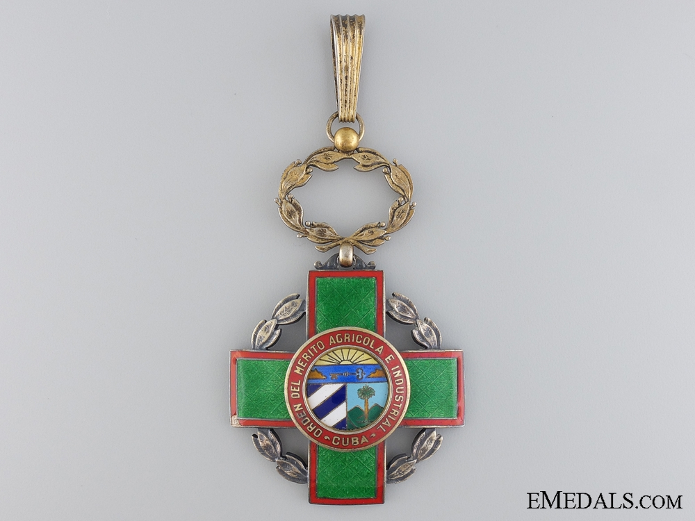 A Cuban Order of Agricultural & Industrial Merit; Second Class
