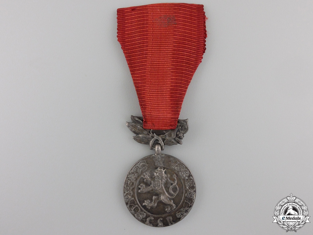 A Czechoslovakian Medal for the Defence of the Homeland