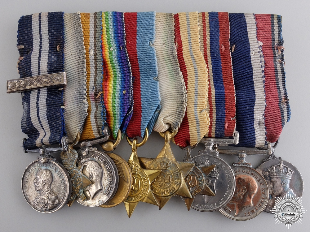 A Distinguished Service Medal Miniature Group of Ten