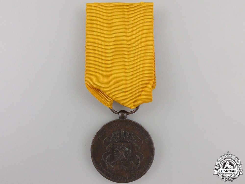 A Dutch Army Long Service Medal, Bronze Grade for 12 Service in the Colonies