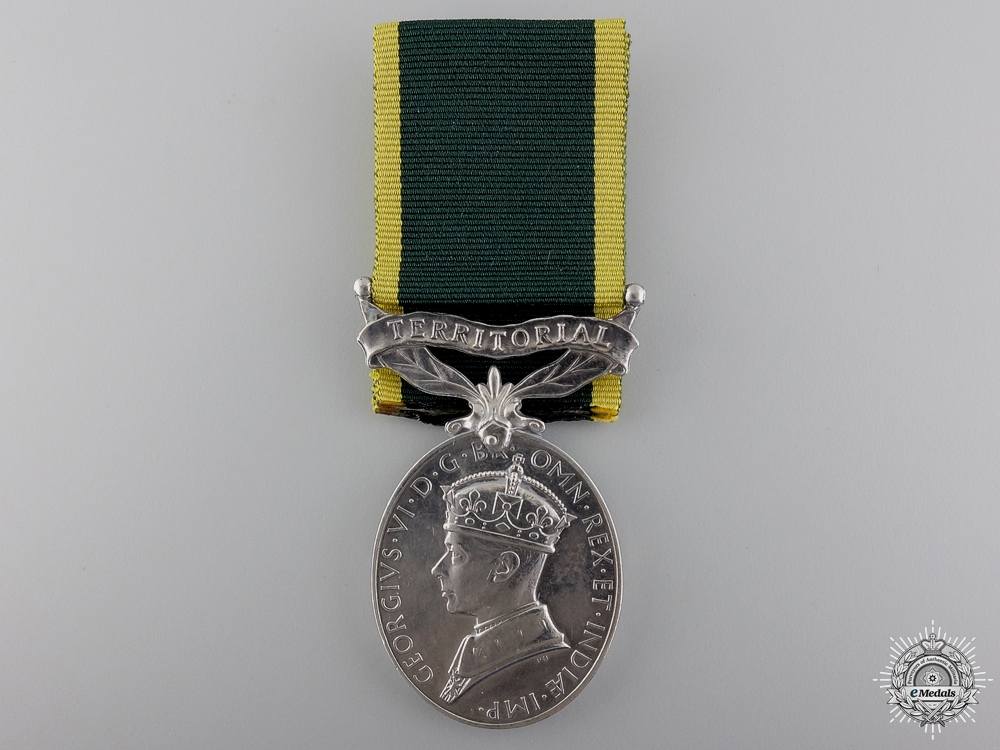 A Efficiency Medal to the Royal Artillery