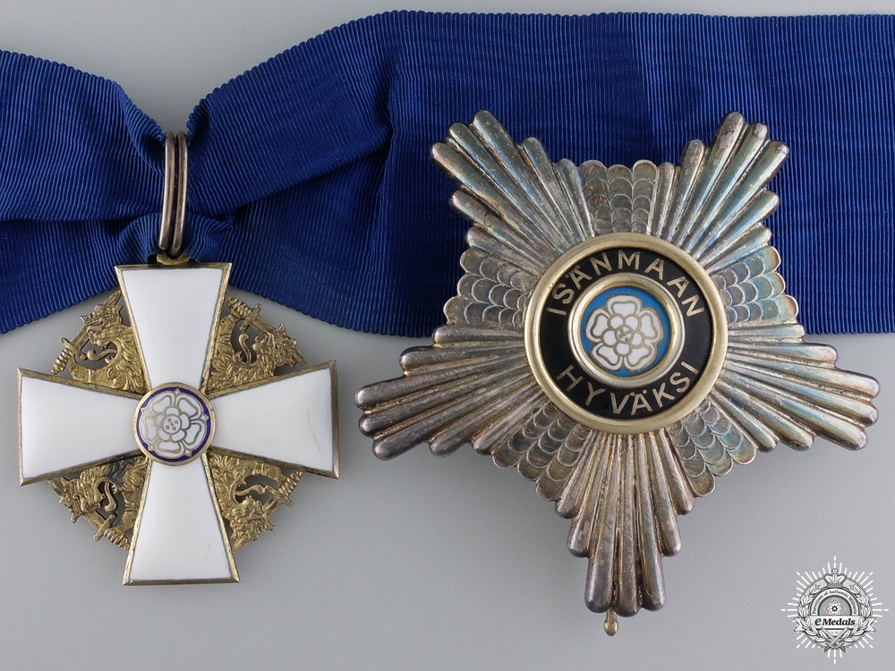 A Finnish Order of the White Rose; First Class Commander