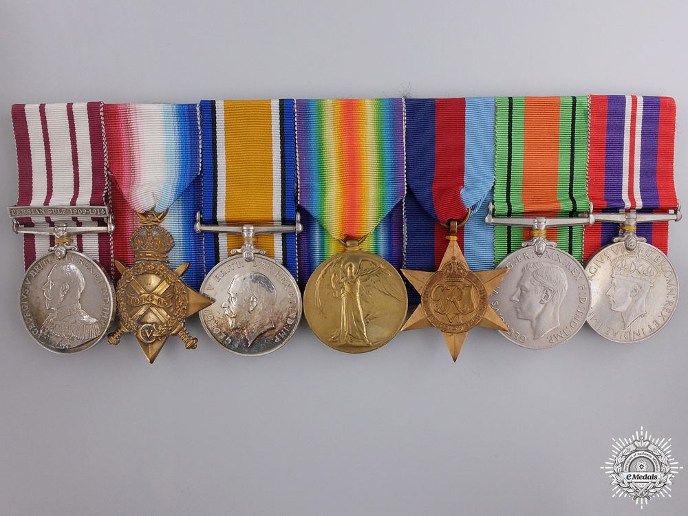 A First & Second War Group of Seven Awards to Lieutenant Darbin of the R. Navy