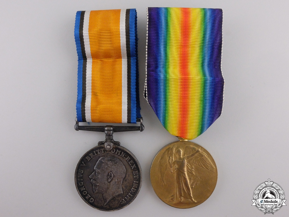 A First War Casualty Pair to the Scottish Rifles (Cameronians)