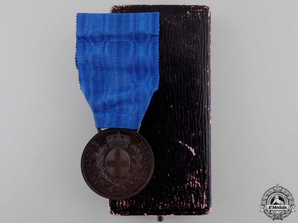 A First War Italian Medal for Military Valour with Case