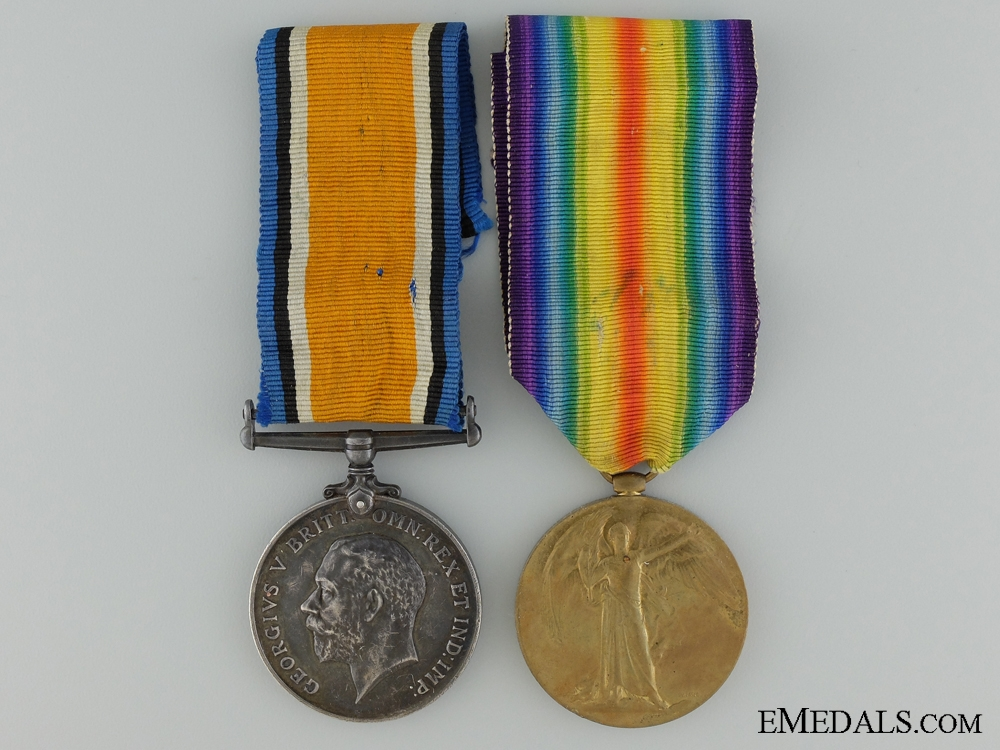 A First War Medal Pair to the 14th Canadian Infantry Battalion
