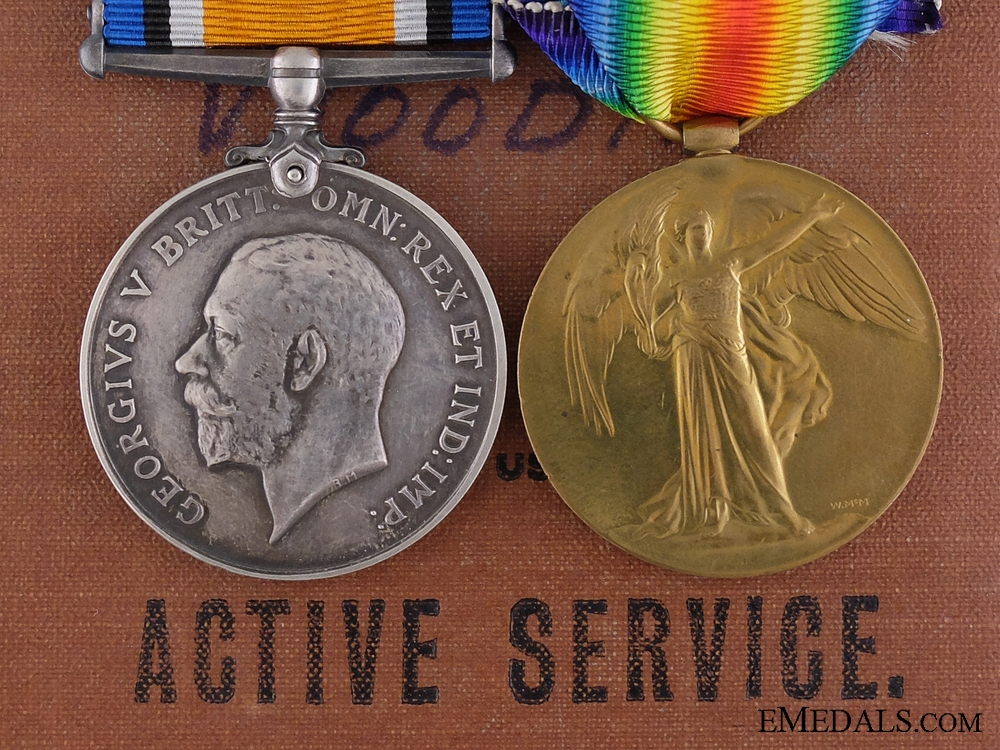 A First War Medal Pair to the No. 7 Canadian Stationary Hospital