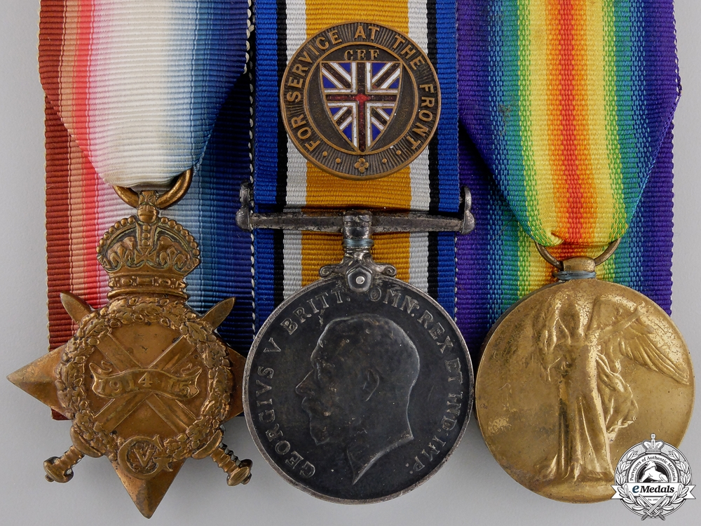 A First War Medal Trio to the 25th Canadian Infantry
