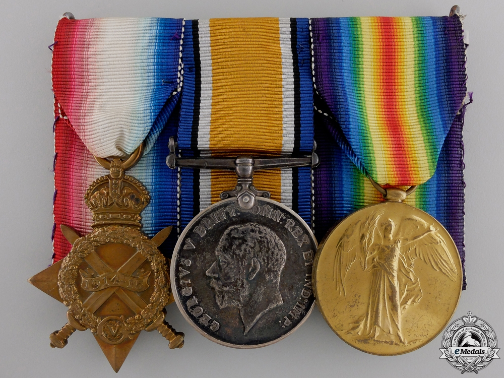 A First War Medal Trio to the Canadian Army Service Corps