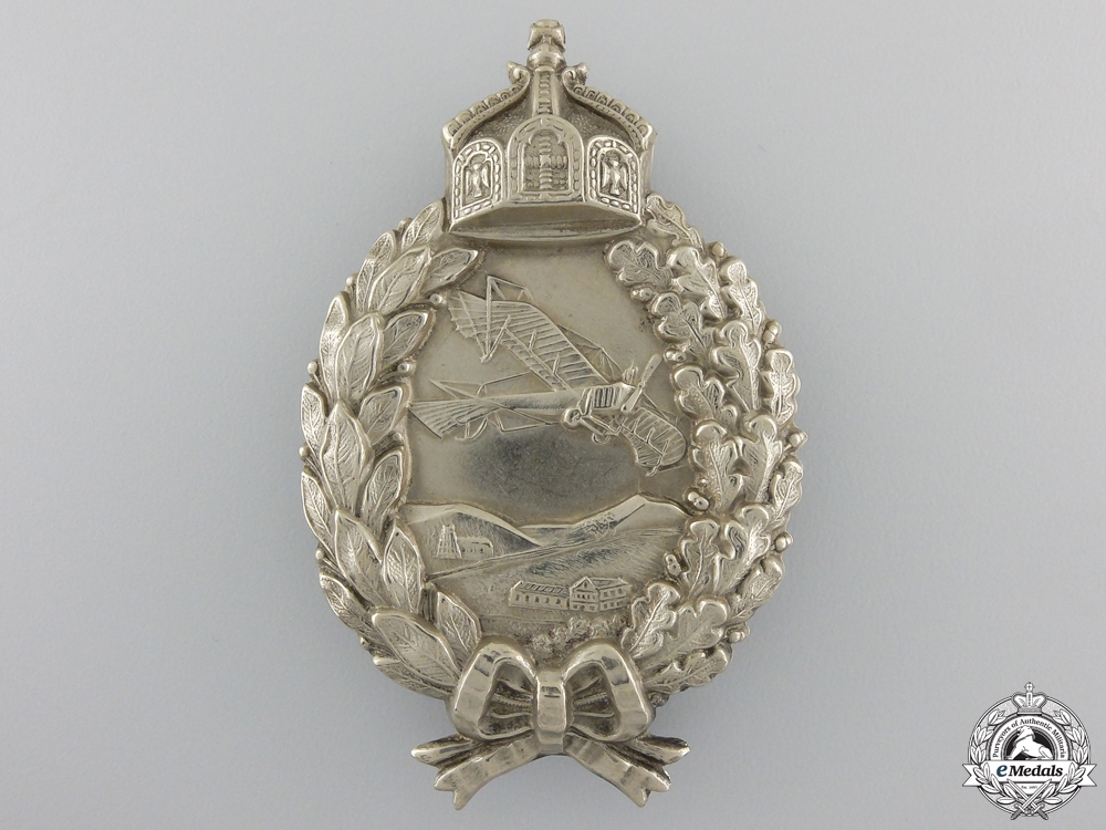 A First War Prussian Pilot's Badge; circa 1915-17