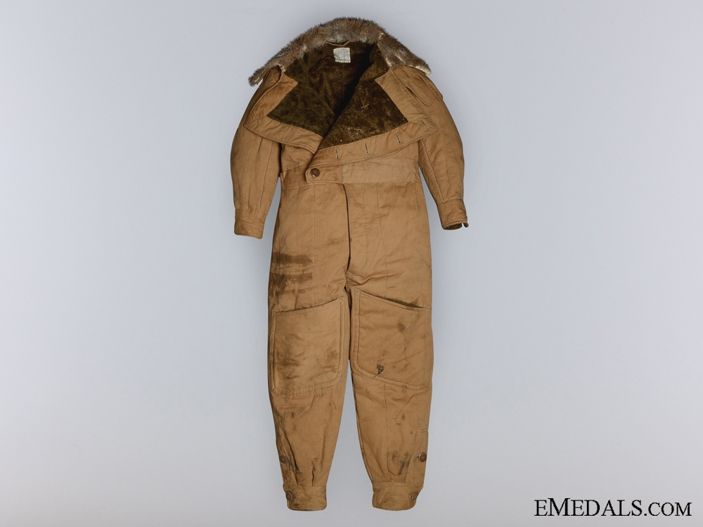 A First War RFC Sidcot Flying Suit Worn by Canadian Pilot