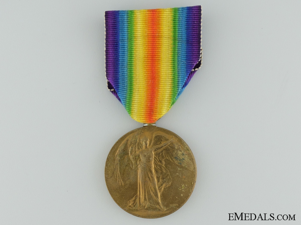 A First War Victory Medal to the 20th Infantry; KIA 1918; Massey Harris Co.