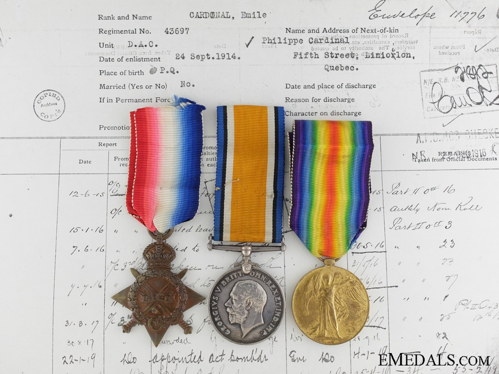 A First World War Medal Group to the Canadian Field Artillery